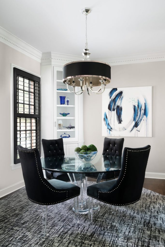 Contemporary Dining Room, Abstract Art, Potomac Maryland